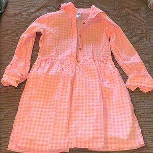 Carters Pink and White Gingham Print Dress